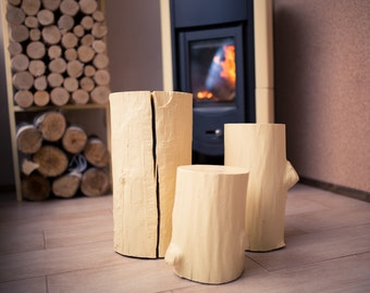 Wooden Decor Seats STUMPS