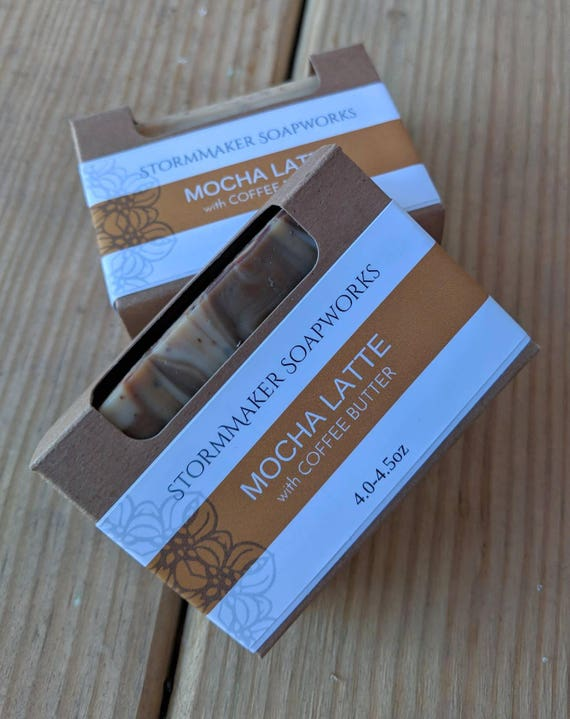 All Natural Soap, Mocha Latte, Herbal Bath Bar, Soothing, Moisture Loving, Palm Free