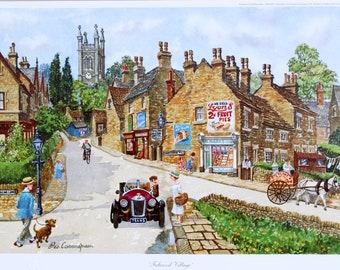 George Cunningham Fulwood Village Print