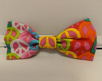 Peace bow tie
