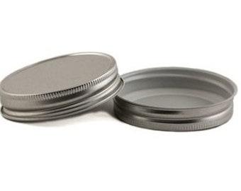 12 pcs Silver Mason Jar Lid for Regular Mouth Mason Jars- BPA Free, Plastisol Lined