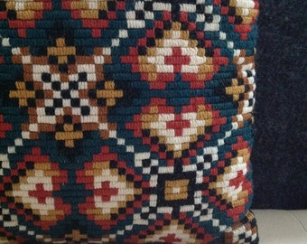 70s Geometric Pillow Eclectic Home Decore Interior Design Ethnic Cushion Tribal