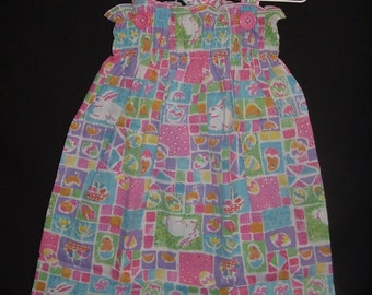 Easter Patchwork Bandana Sundress - Pillowcase Dress - 2 to 3T = seasonal clearance sale - 25% off