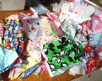 Fabric Scrap Bag Miscellaneous Designers - HALF pound all sizes - Michael Miller - Robert Kaufman - Riley Blake