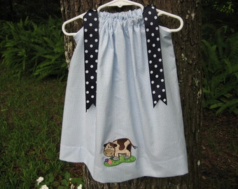 CLEARANCE Cow Pillowcase Dress