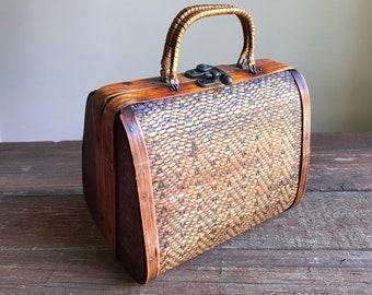 Unique vintage wooden purse