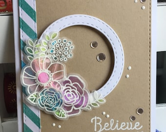 Believe in Yourself Encouragement Greeting Card