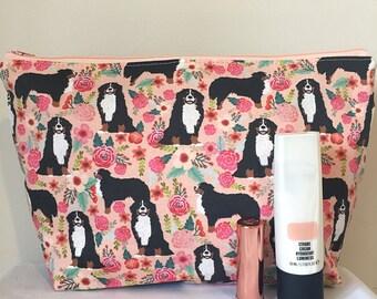 Bernese mountain dog makeup/toilet bag