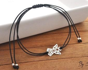 Sterling Silver Angel Bracelets, Delicate Angel Bracelet, Silver Angel, Drawstring Bracelets, Angel Pendant, Silver Guardian Angel Bracelet