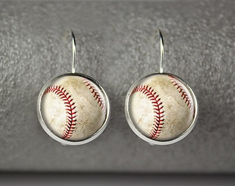 Baseball earrings, Baseball Moms earrings, Baseball jewelry, Baseball accessories, Baseball Moms jewelry