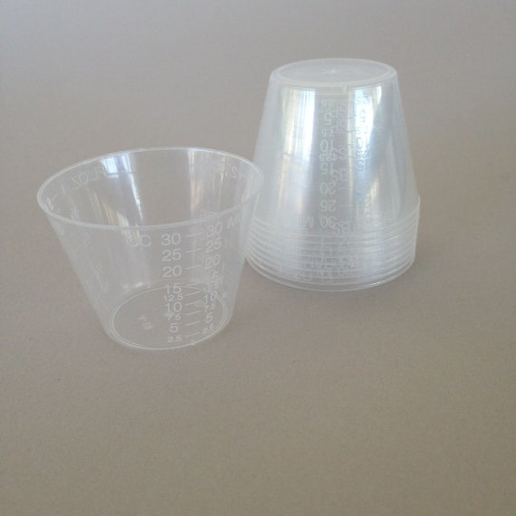 Resin Measuring cups perfect for mixing small batches of resin, mixing paints, inks and so much more