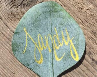 Eucalyptus Leaf Place Card