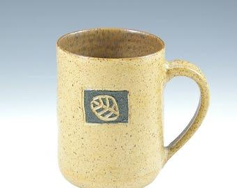 Fathers Day Large Pottery Coffee Mug,  Handmade Man Pottery Mug,  Cup, Coffee Beer Mug 20 oz. Twenty Ounce, Nature Lover Mug Gift,  Man Gift