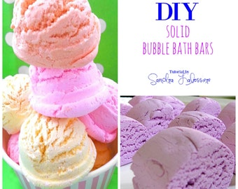 DIY Solid Bubble Bath Bars - FAST drying  Formula - PDF e-Book