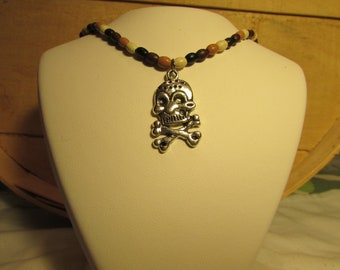 Hand Made These 3 Choker's & Skull Crossbones Charm Comes With.