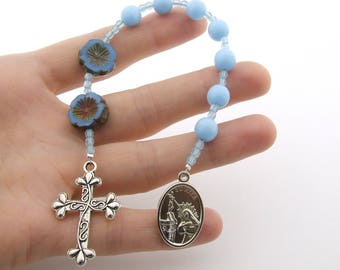 Anglican Rosary Beads - Saint Rita Anglican Prayer Beads - Pocket Rosary - Protestant Prayer Beads - Christian Saint Rosary - Christian Gift
