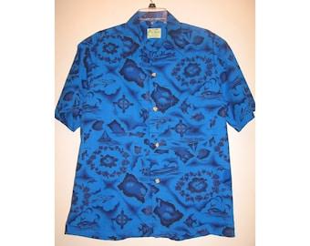 Reserved for Rtigger Aloha Shirt Ui Maikai XL vintage 50s Mens