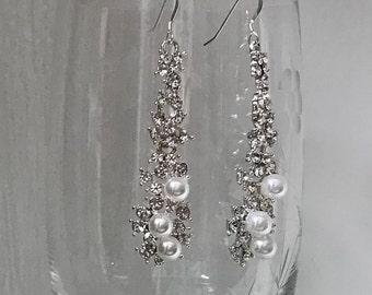 Event earrings, aurora borealis prom earrings, iridescent dangle earrings, pageant earrings, bridesmaid earrings, stunning earrings