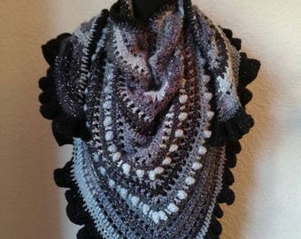 Bespoke crochet wrap scarf shawl one of a kind designer gift ready to post winter warm.christmas