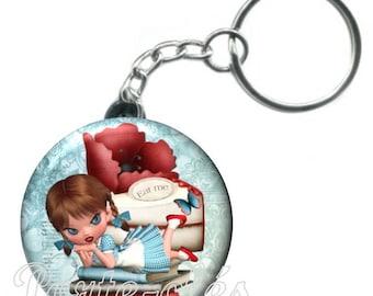 1 badge Keychain, fairy tale Alice