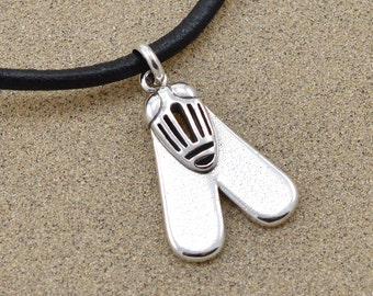Fly of Valor Pendant - Ancient Egyptian Amulet - Insect Jewelry - Sterling Silver