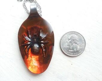 Spider spoon pendant