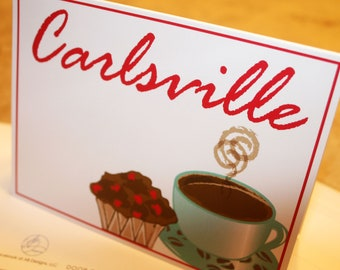Carlsville Blank Note Card