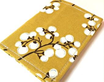 Yellow Wallet, Womens Wallet, Slim Wallet Women, Business Card Holder, Credit Card Holder, Credit Card Wallet, Small Womens Fabric Wallet
