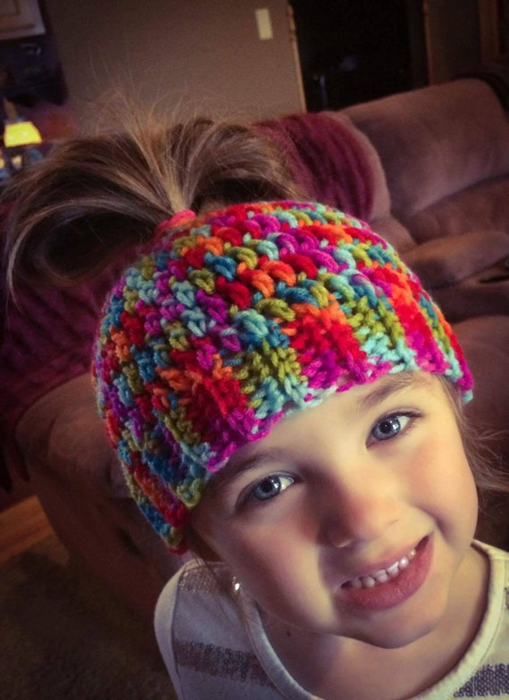 Girl's Messy Bun Hat Beanie Ponytail Hat, Mama Bear Mom Bun Monday, World's Okayest Mom, Christmas Gift , Mommy and Me Outfits, Mom Life Hat