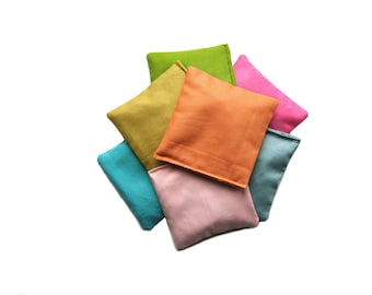 Pastel Bean Bags, Stacking Toy, Sensory Beanbags, Toy For Toddlers, Montessori Toy, Educational Game, Sorting Toy, Waldorf Game, Indoor Play