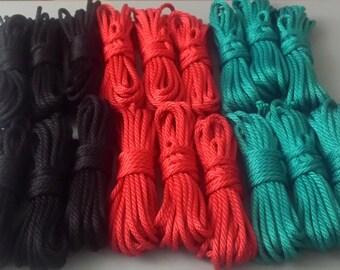 "Beginners Rope Bondage Kit (90ft! + Shears)  for Shibari or Suspension - 6mm 1/4"" Synthetic Bondage Rope"
