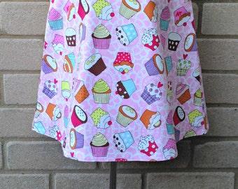 Cupcake Dress - Pretty Pinafore Dress - A-Line Dress - Age 2 years - Girls Lined Dress