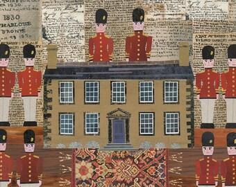 Bronte-Schwestern, Grußkarte, Spielzeug Soldaten, Collage, Bronte Parsonage Branwell Bronte, Bücherwurm, Jane Eyre, Kinder Spiele, Amanda White
