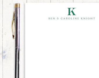 personalized notePAD - PROFESSIONAL MONOGRAM - stationery - stationary - monogrammed notepad - letterhead