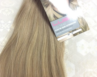 """Ash brown (18)  100% human hair clip in extensions   14""""  18""""  20"""""""