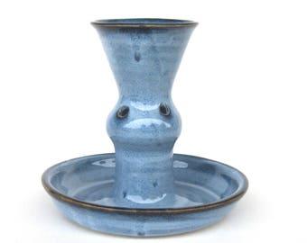 Epergne Vase for Ikebana - Pacifica Blue Glaze