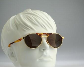 Free Land FL 46, Vintage aviator sunglasses, 90s mens & women rare and unique round aviator / NOS
