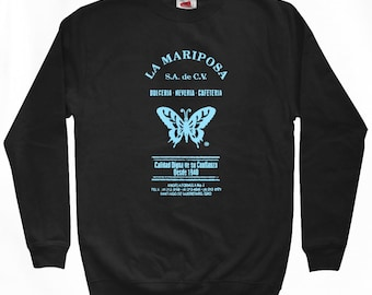 La Mariposa Sweatshirt - Men S M L XL 2x 3x - Butterfly Shirt - Mexico, Mexican, Spanish, Vintage - 4 Colors