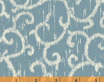Ibiza - Scroll Blue by Rosemarie Lavin from Windham Fabrics