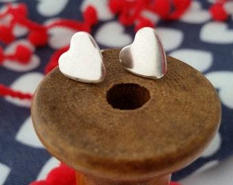 Dinky Heart Stud Earrings