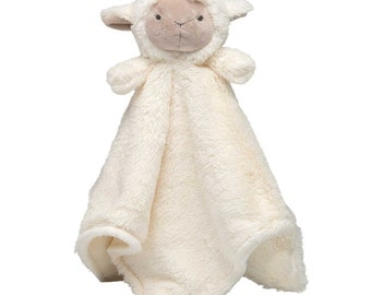 Monogrammed lamb blankie lovie security blanket