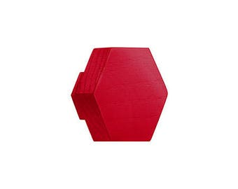 miniHexa raspberry, wooden knobs and hangers,  cabinet knobs and pulls, drawer pulls, hook, variety of colours