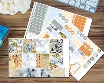Safari Weekend Horizontal Weekly Kit [95 x Matte] Perfect for your Erin Condren!