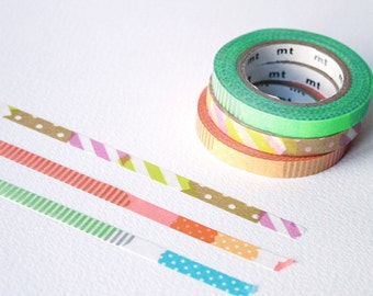 mt slim washi tapes - Brights (E) - Thin washi tape set - mt masking tape