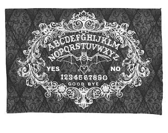 Ouija Board on damask pillow case