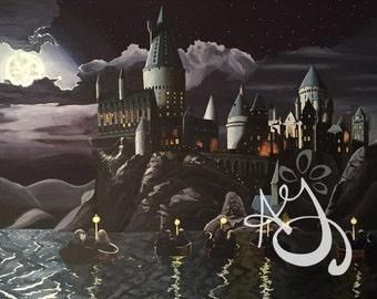 Hogwarts at Night Print