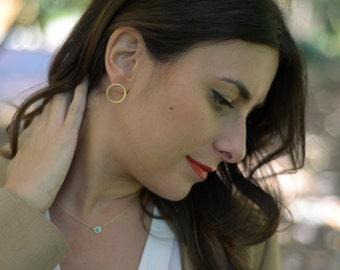 Large Circle Stud Earring