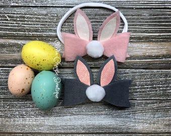 Bunny Ears Bow/Easter Bunny Headband/Easter Bunny Hair Clips
