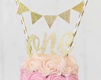 One Cake Topper & Bunting