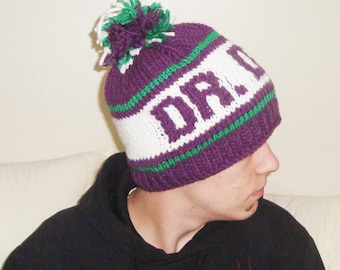 Winter hats for women's hats trendy personalized knit DR DOG gift for woman, fast shipping, purple, green, white